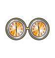 A pair of clocks vector image vector image