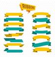 flat bright colorful blank ribbons set vector image