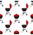 Barbecue set - grill station seamless pattern vector image