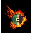 Burning CD vector image vector image