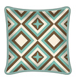 Decorative pillow vector image vector image
