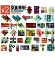 Huge set of square infographic templates 2 vector image