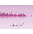 Montreal skyline in purple radiant orchid vector image
