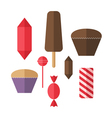 Sweet food Icon set Candy vector image