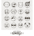 Hand drawn set of Emoticons vector image