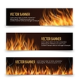 Hot fire advertisement horizontal banners vector image vector image