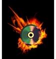 Burning CD vector image