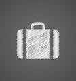 Case sketch logo doodle icon vector image