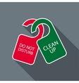 Do not disturb and clean up door hangers icon vector image