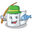 fishing tissue character cartoon style vector image