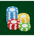 Gaming chips Casino tokens Poker chips vector image