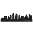 Kansas City Missouri skyline vector image