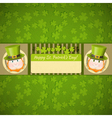 Patricks Day Retro Card vector image