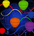 seamless background with rainbow balloons vector image