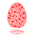 texture egg vector image