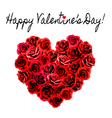Valentines Day Background Heart made of red roses vector image