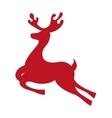 reindeer deer silhouette icon vector image