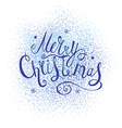 Xmas Greeting Card with Lettering on the Abstract vector image vector image