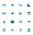 holiday colorful icons set collection of placard vector image