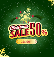 Christmas Sale 50 Percent typographic background vector image vector image