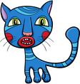 blue kitten or cat cartoon vector image