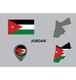 Map of Jordan and symbol vector image