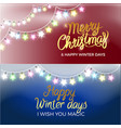 merry christmas garlands on vector image