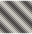 Seamless Black and White Parallel Diagonal vector image