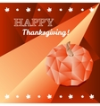 Thanksgiving greeting card in trendy polygonal vector image