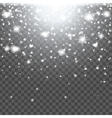 Abstract creative christmas falling snow isolated vector image
