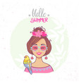 hello summer color vector image vector image