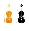 golden icons of cello vector image
