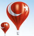 Hot balloons painted as turkish flag vector image