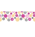 Abstract textured bubbles horizontal border vector image vector image