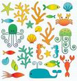 sealife vector image