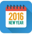New year flat calendar icon vector image