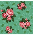 rose seamless background vector image vector image