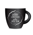 Abstract Beauty Christmas and New Year Cofee Cup vector image vector image