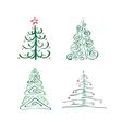abstract christmas trees vector image