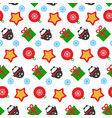 christmas and happy new year decoration vector image