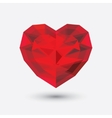 Crystal heart icon Glass love symbol vector image