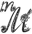 Letter M m vector image