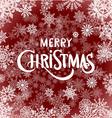 Merry Christmas - red glittering lettering design vector image