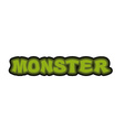 Monster typography Scary green letters Logo for vector image