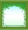 Nature background banner with green leaf frame vector image