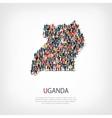 people map country Uganda vector image