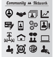 Set of network and community icons vector image