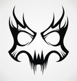 Skull Mask Tattoo Design vector image