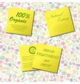 organic food labels vector image