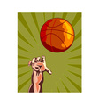 Basketball Hand Retro vector image vector image